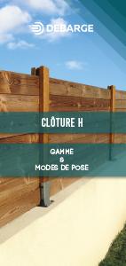 Documentation leaflet sur les clôtures H, gammes et modes de pose