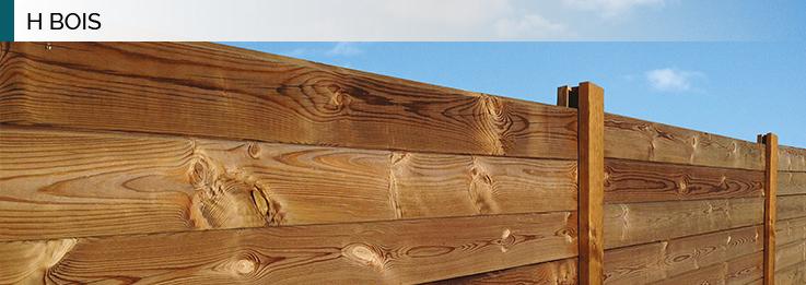 clôture H bois