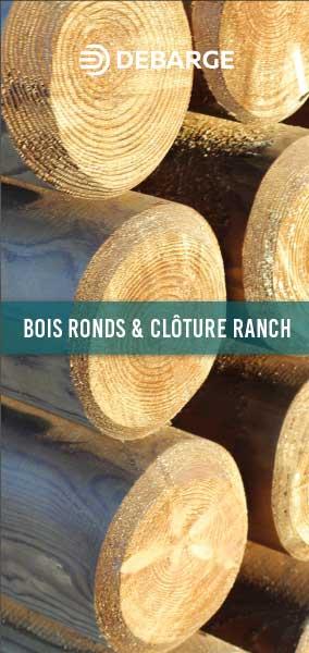 Documentation leaflet de bois ronds et clôture ranch